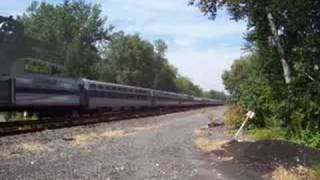 preview picture of video 'Amtrak 48 at Lyons, NY 08-23-08'