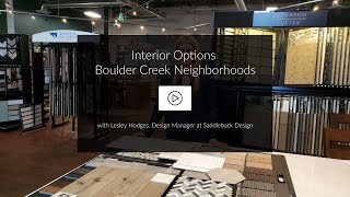 VIDEO | Tour an Interior Design Package for Boulder Creek Neighborhoods
