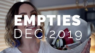 EMPTIES - December 2019 | So many products finished! A few Project pan items, gone!