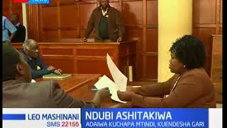 Wakili Harun Ndubi ashtakiwa kwa kosa la kuendesha gari baada ya kutumia kileo
