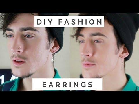 diy fashion earrings    men's fashion (george michael inspired)