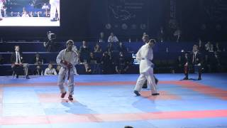 preview picture of video 'Aghayev Rafael (AZE) - Horuna Stanislav (UKR). FINAL. Karate1. Tyumen, April 2013'
