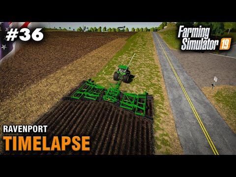 FS19 Timelapse Ravenport #37 Creating One Huge Field - Sim Farmer