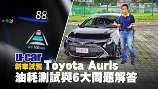 【實測】Toyota Auris油耗與網友6大問題解答(中文字幕) ACC於30km/h以下作動反應、破解HUD視線遮擋疑惑   U-CAR 新車試駕 (TSS主動安全系統、LDA上路實際測試)