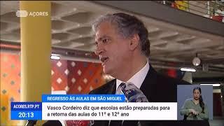 22/05: Vasco Cordeiro comprovou que as escolas de São Miguel estão prontas para regressar ao ensino presencial