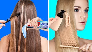 HAIR TRICKS || 20 GENIUS BEAUTY HACKS