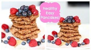 Easy healthy Vegan and dairy free pancakes 3 ingredients