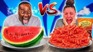 SPICY VS HEALTHY FOOD CHALLENGE