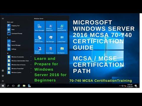 70-740 MCSA Certification Exam - Cert Exam Prep