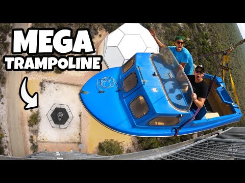 Boat Vs. World's Strongest Trampoline from 45m