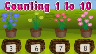 Learning Numbers From 1 To 10, Elementary Counting For Kindergarten, Preschoolers And Kids.