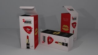 Tutorial Adobe illustrator CC - 2D & 3D Packaging Design - ROSSETTO - Process and realistic render