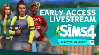 EARLY ACCESS LIVESTREAM: The Sims 4 Discover University