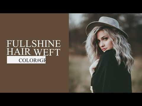 Full Shine Sew In Hair Weft Bundles 100% Remy Human Hair Highlights (#GreyP60)