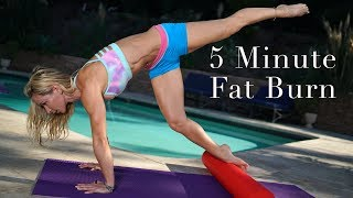 5 Minute Fat Burn #130 - Foam Roller Exercises by Zuzka Light