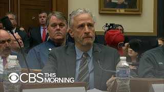 Jon Stewart chokes up, slams lawmakers at hearing on 9/11 first responders fund