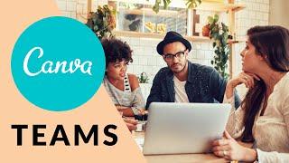 In Canva Teams erstellen und Designs teilen