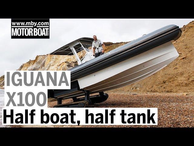 Amphibious beach crawler rides on tank tracks | Iguana X100 review | Motor Boat & Yachting