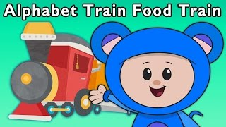 T Is for Train | Alphabet Train Food Train + More | Mother Goose Club Phonics Songs