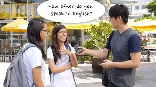 How often do you Filipinos speak in English?