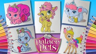 Disney Princess #PalacePets characters Part 2 Coloring Pages #forKids #LearnColors and Draw