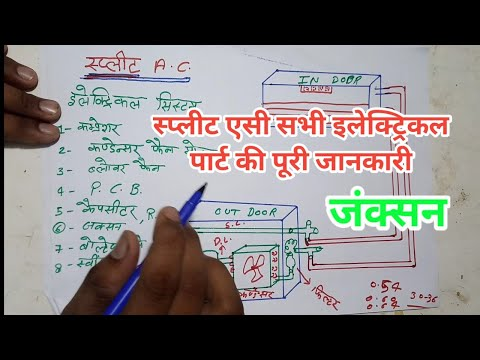 Split ac all electrical system in hindi step by step