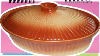 Как правильно пользоваться глиняной посудой. Глиняный горшок для запекания.