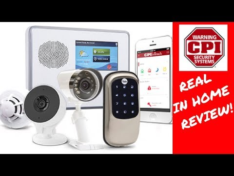 Honest Reviews! Real In Home Review of CPI Security System, In Touch and Mobile App!