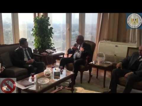 لقاء الوزير/طارق قابيل مع وفد شركة سنغافورة القابضة برئاسة السيد/ زاى زاو يى رئيس الشركة