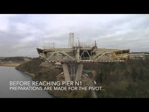Queensferry Crossing north viaduct launch - Feb/March 2016