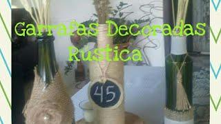 Garrafas Rústicas Flor De Juta Diy Pap Decoração Aniversário