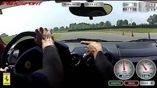 preview picture of video 'Ferrari F430 spider 30/06/2013 giro in pista a vairano con puresport'