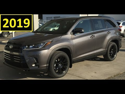 2019 Toyota Highlander SE AWD Review in Pre dawn Mica Full feature review and Walk Around