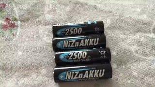 Vorstellung NiZn (Nickel Zink) Akkus Battery Ansmann und Powergenix