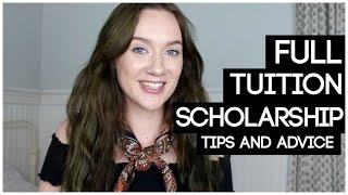 HOW I GOT A FULL TUITION COLLEGE SCHOLARSHIP (tips & Advice)