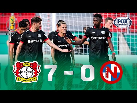 UM VERDADEIRO MASSACRE! Veja os gols de Bayer Leverkusen 7x0 Eintracht Nordesrstedt