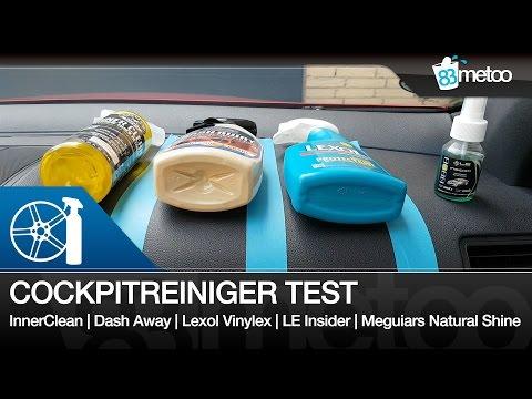 Cockpitreiniger Test CG InnerClean | Dash Away | Lexol Vinylex | LE Insider | Meguiars Natural Shine