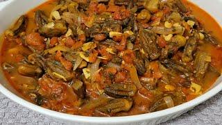 طريقة تحضير بامية بزيت (وصفة نباتية) Easy and Tasty Vegan Okra With Tomatoes Recipe