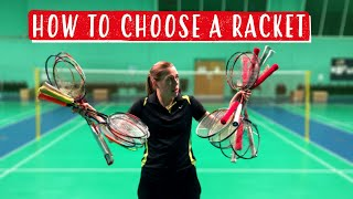 How To Choose The BEST BADMINTON RACKET For You