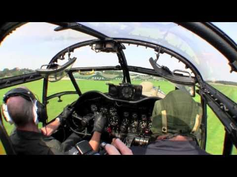 Lancaster Taxy ride from the cockpit