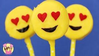 EMOJI MARSHMALLOW POPS  - Valentine's Emoticon heart eyes  - Baking with Charli's Crafty Kitchen