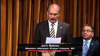 MP Jati Sidhu – Member's Statement 02/05/2016