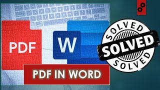 How to Insert PDF file into Word Document?   Tutorial