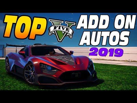 GTA 5 DIE TOP 5 ADD ON AUTOS 2019 [GTA 5 MODS]