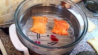Слойки пирожки с начинкой в аэрогриле  (варенье) 2017 рецепт
