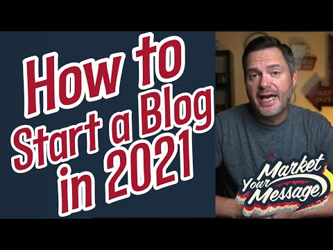 🔴 LIVE: How to Start a Blog in 2021 (Market Your Message Show)