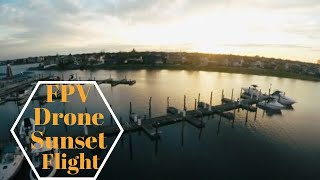 FPV Drone - Flying around the Docks at Sunset - Long Island, NY