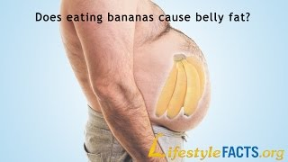 Does eating bananas cause belly fat?