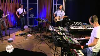 "Django Django performing ""First Light"" Live on KCRW"