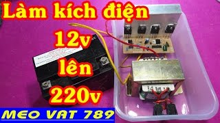 How to increase the voltage 12v to 220v
